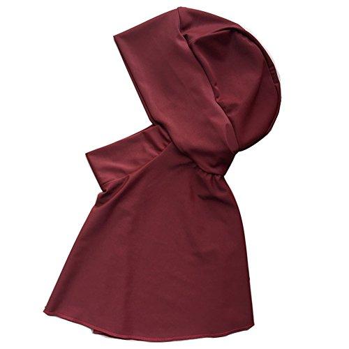Highdas Muslim Schwimmen Kleider Abaya Frauen Badebekleidung Full Covered Islamischen Hijab Badeanzug rot M -